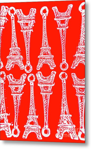 Match Made In Paris Metal Print