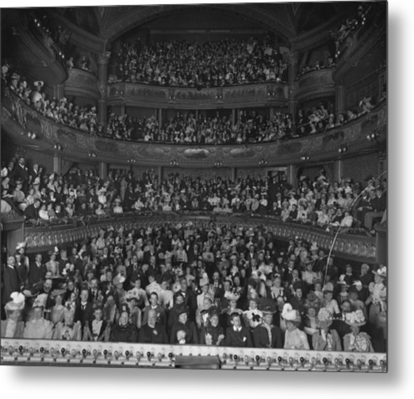 Matinee Audience Metal Print by London Stereoscopic Company