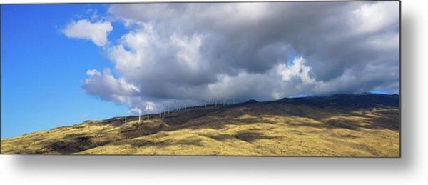 Maui Windmills Wide Metal Print