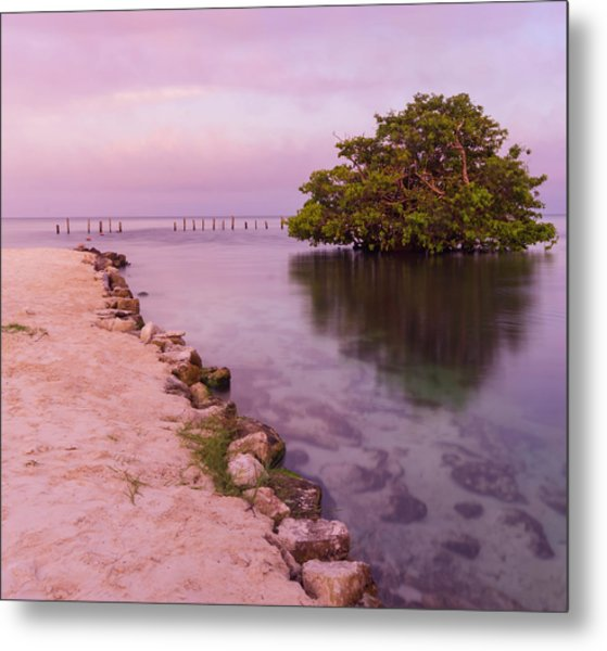 Mayan Sea Reflection 2 Metal Print