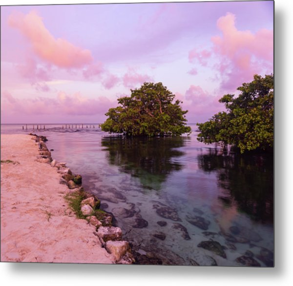 Mayan Sea Reflection Metal Print
