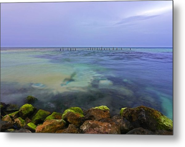 Mayan Sea Rocks Metal Print