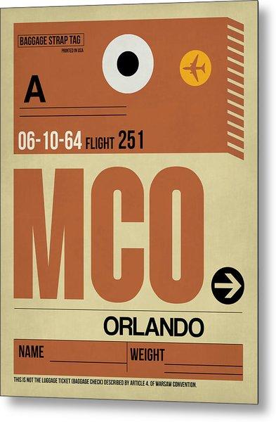 Mco Orlando Luggage Tag I Metal Print