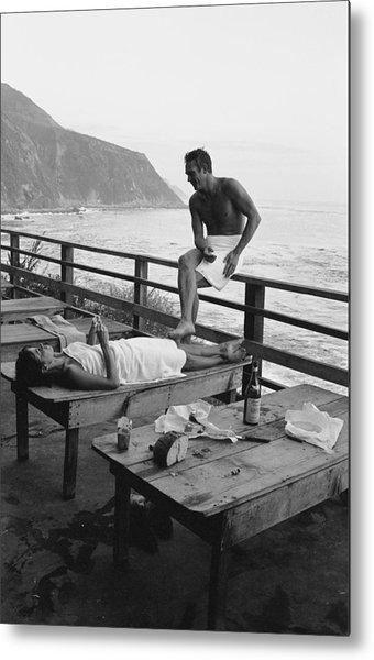 Mcqueen & Adams Relax In Big Sur Metal Print