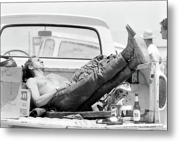 Mcqueen Asleep In Pickup Metal Print