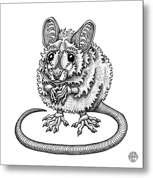 Meadow Jumping Mouse Metal Print