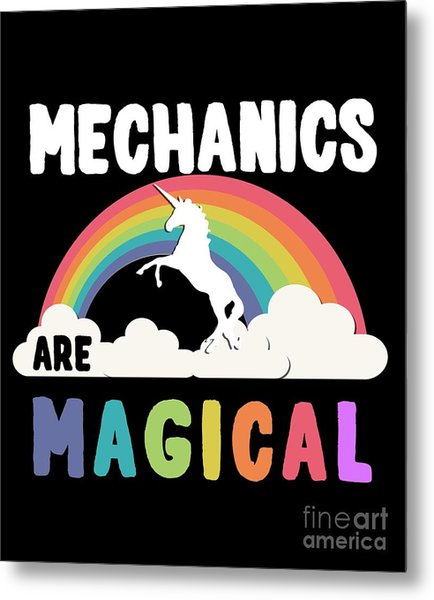 Metal Print featuring the digital art Mechanics Are Magical by Flippin Sweet Gear