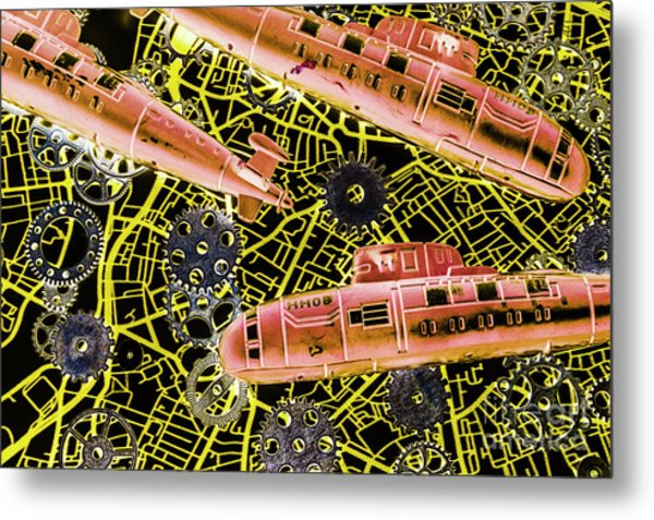 Mechanised Waters  Metal Print