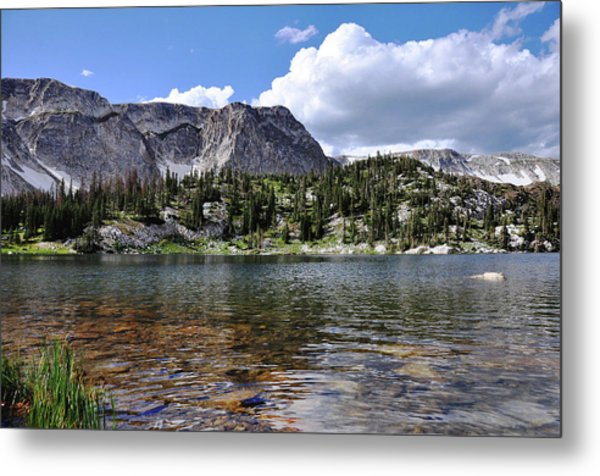 Metal Print featuring the photograph Medicine Bow Peak And Mirror Lake by Chance Kafka