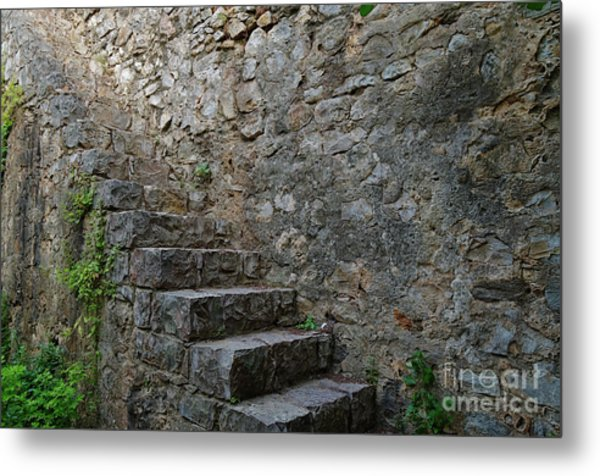 Medieval Wall Staircase Metal Print