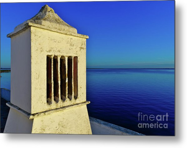 Mediterranean Chimney In Algarve Metal Print
