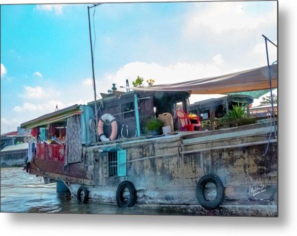 Mekong Delta Boat, Vietnam Metal Print