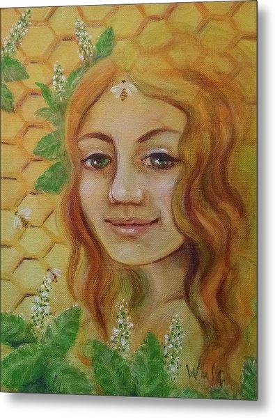 Melissa - Bee Goddess Metal Print