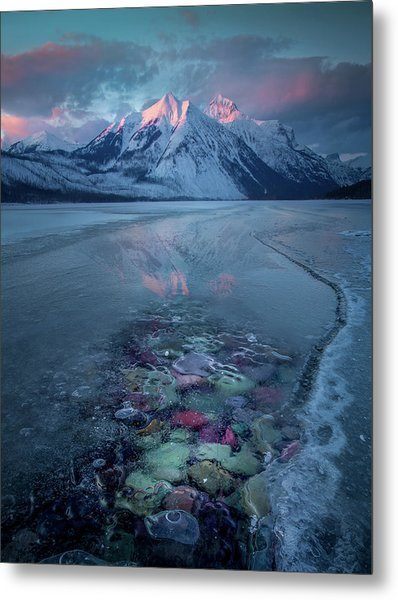 Melt, Freeze, Repeat / Late Winter / Lake Mcdonald, Glacier National Park  Metal Print