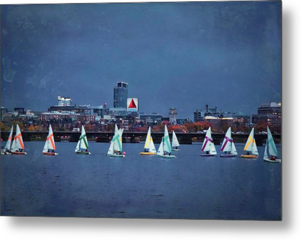 Metal Print featuring the photograph Memorial Drive - Charles River - Boston, Ma by Joann Vitali