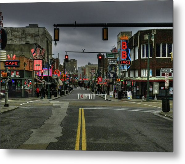 Memphis - Beale Street 001 Metal Print