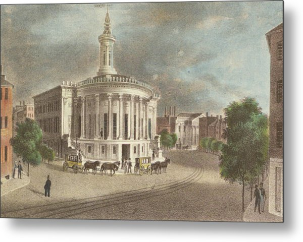 Merchants Exchange, 1838 Metal Print