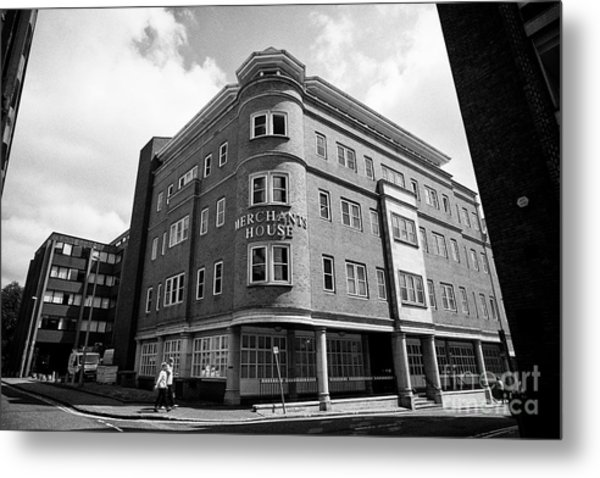 Merchants House Commercial Office Building Chester Cheshire England Uk Metal Print by Joe Fox