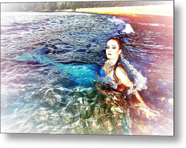 Mermaid Shores Metal Print