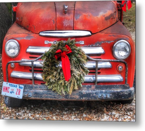 Merry Christmas Texas Metal Print