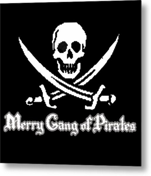 Merry Gang Of Pirates Metal Print