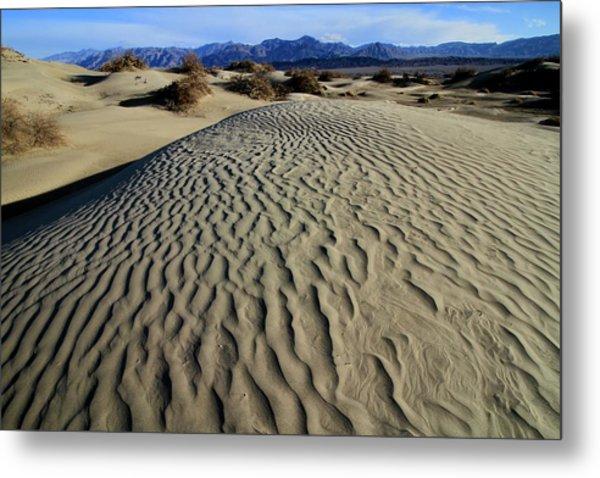 Mesquite Flat Sand Dunes Grapevine Mountains Metal Print