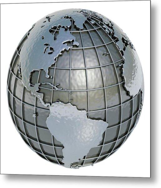 Metal Earth, Artwork Metal Print by Ktsdesign