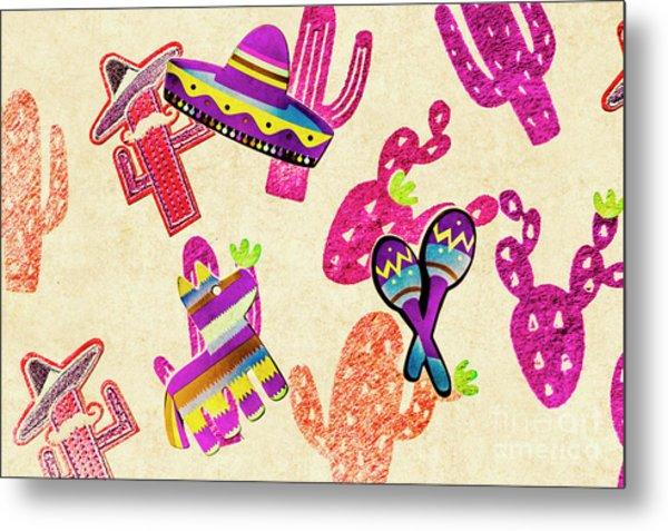 Mexican Mural Metal Print