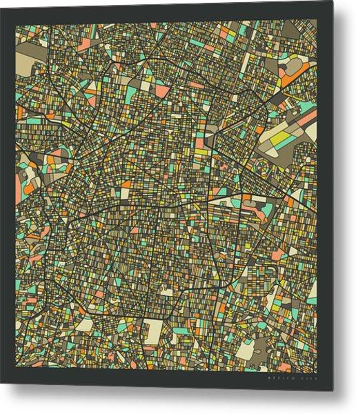 Mexico City Map 2 Metal Print