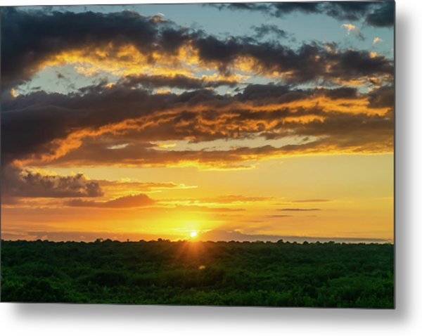 Mexico Sunset Full Metal Print