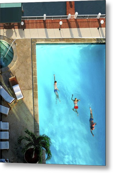 Miami Pool Metal Print