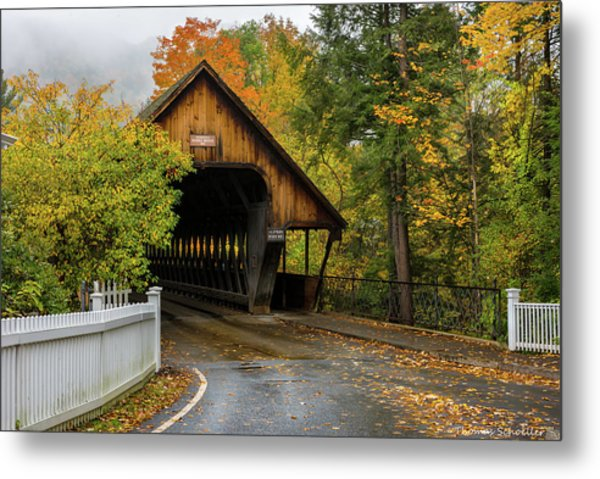 Metal Print featuring the photograph Middle Covered Bridge - Woodstock Vermont by Expressive Landscapes Fine Art Photography by Thom