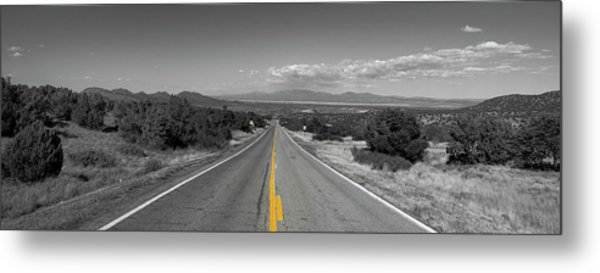 Middle Of The Road Metal Print