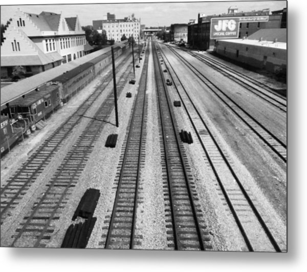 Middle Of The Tracks Metal Print