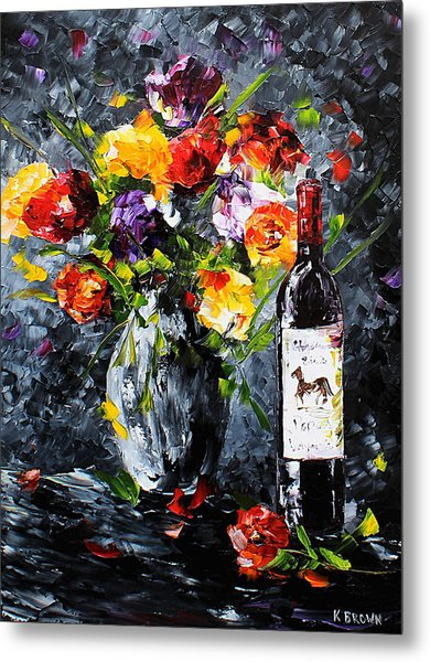 Metal Print featuring the painting Midnight Love by Kevin Brown