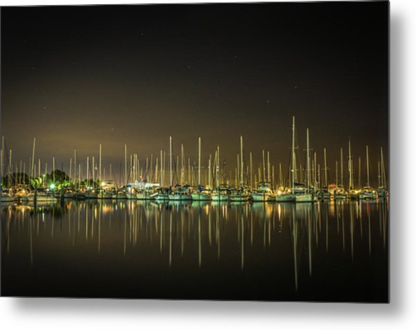 Midnight Reflections Metal Print