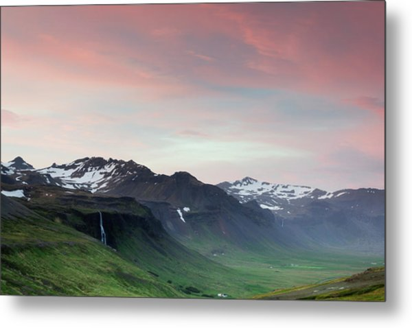 Metal Print featuring the photograph Midnight Sun In Iceland by Nicole Young