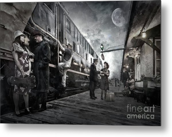 Midnite Run Metal Print