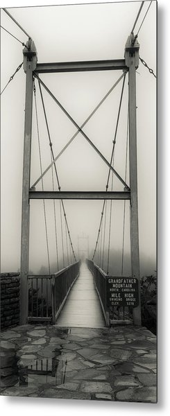 Mile High Swinging Bridge - Grandfather Mountain Metal Print