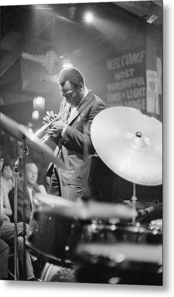 Miles Davis Performing In Nightclub Metal Print