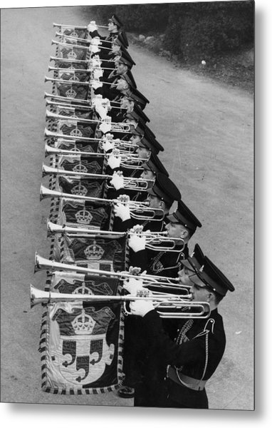 Military Music Metal Print by Douglas Miller