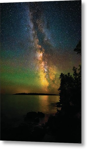 Metal Print featuring the photograph Milky Way And Northern Lights Over Isle Royale by Owen Weber