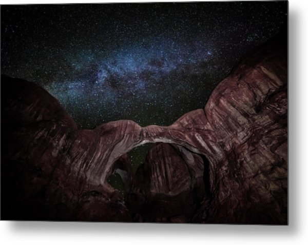 Metal Print featuring the photograph Milky Way At Double Arch by David Morefield