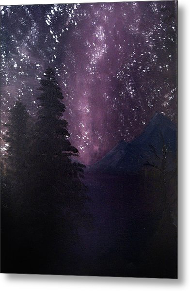 Metal Print featuring the painting Milky Way Lake by Chance Kafka