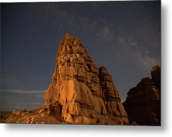 Milky Way On The Rocks Metal Print