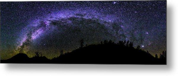 Milky Way Over Colorado Country Metal Print