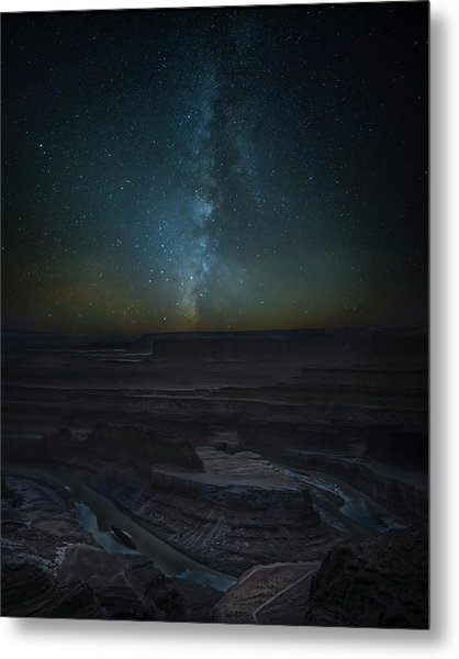 Metal Print featuring the photograph Milky Way Over Dead Horse Point by David Morefield