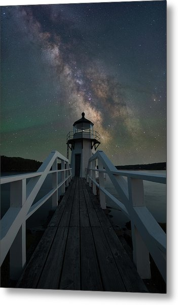 Milky Way Over Doubling Point Metal Print