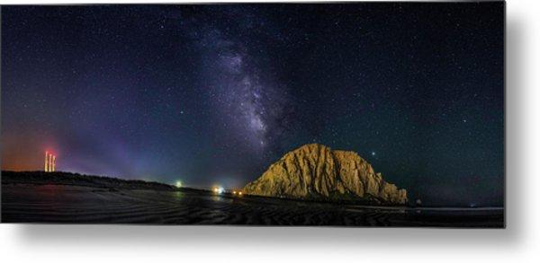 Milky Way Over Morro Rock Metal Print