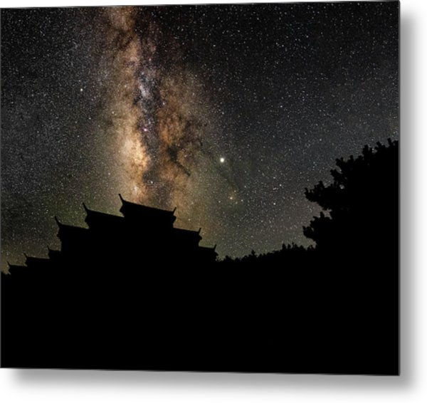 Metal Print featuring the photograph Milky Way Over The Dark Temple by William Dickman